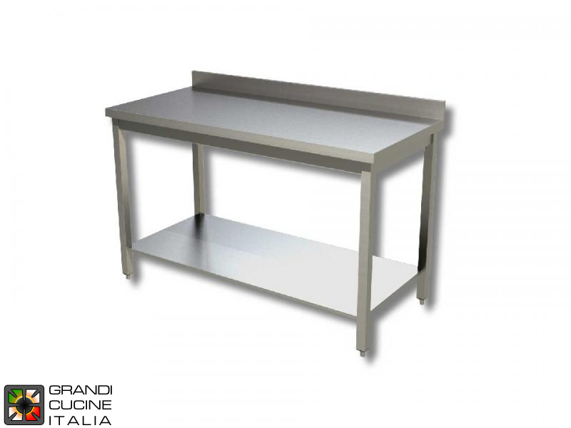 Stainless Steel Work Table With Shelf Aisi Length Cm - Stainless steel work table with shelves