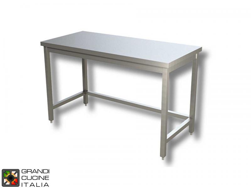 Tavolo Da Lavoro Acciaio : Tavolo da lavoro in acciaio inox con telaio aisi larghezza