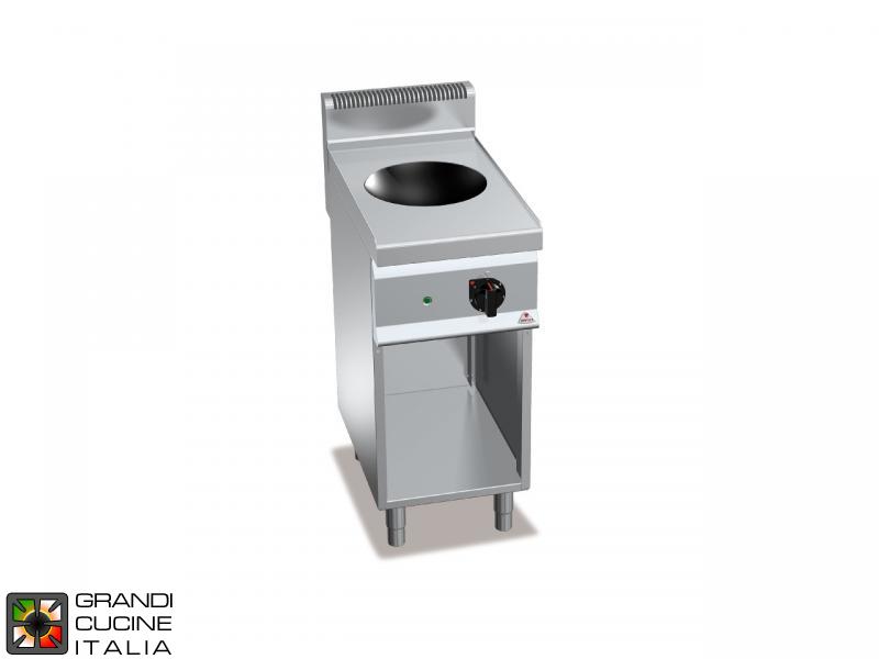 Cucina elettrica ad induzione - per wok - su vano aperto