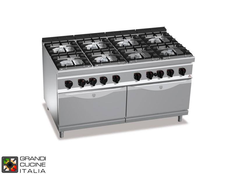 Gas stove burners static double gas oven gn