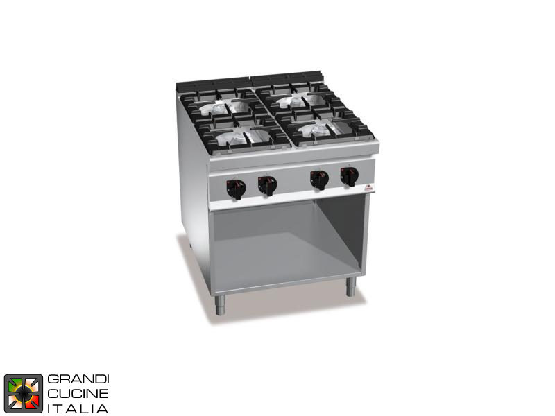 2043fd13278 Gas stove - 4 burners - open cabinet