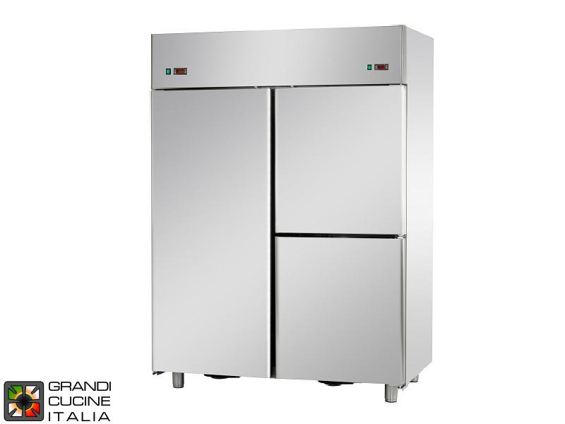 Armadio frigorifero doppia temperatura 1400 litri for Frigorifero temperatura