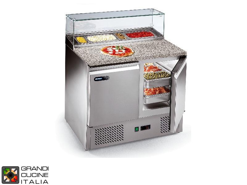 Tavolo frigorifero preparazione pizza gn 1 1 vano for Temperatura frigo da 1 a 7