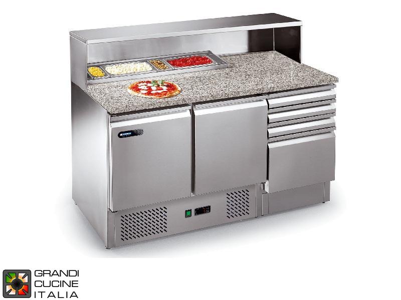 Tavolo frigo preparazione pizza vano porta vaschette for Temperatura frigo da 1 a 7